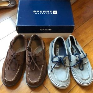 2 Pairs of Sperry Top Sider Shoes SZ 1.5